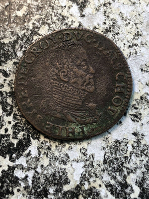 1585 France Philip I de Croy Jeton Token Lot#JM618