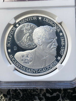 2014 Tuvalu Silver $1 Saint Gaudens NGC PF70 Ultra Cameo Lot#G181 Chicago ANA