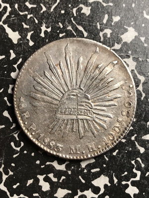 1883-Pi MH Mexico 8 Reales Lot#X6689 Large Silver Coin! Chopmarked