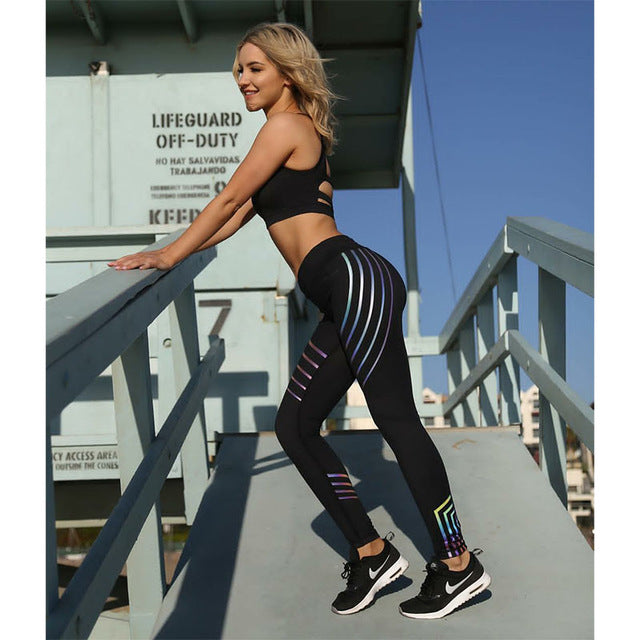 FLUO LASER BAND - PUSH UP LEGGINGS - Waakiki