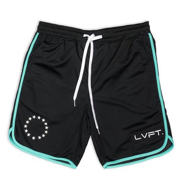 ALL STARS - LVFT SHORTS Black/Blue - Waakiki