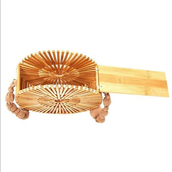 Full-Moon Handmade Bamboo Purse - Waakiki