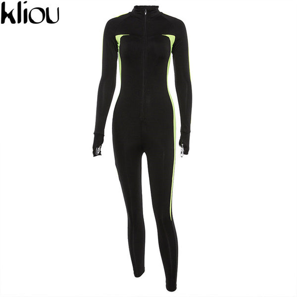 Kliou Super Sexy Push Up Fitness Jumpsuit - Waakiki