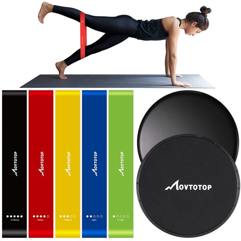 MOVTOTOP 5pcs Resistance Band Set