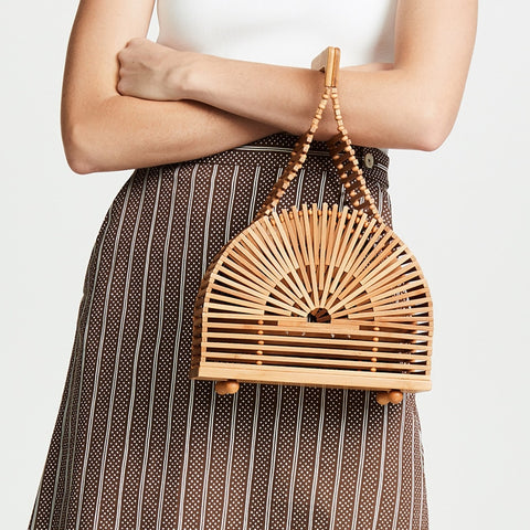 Stylish Women Bamboo Bag - Waakiki
