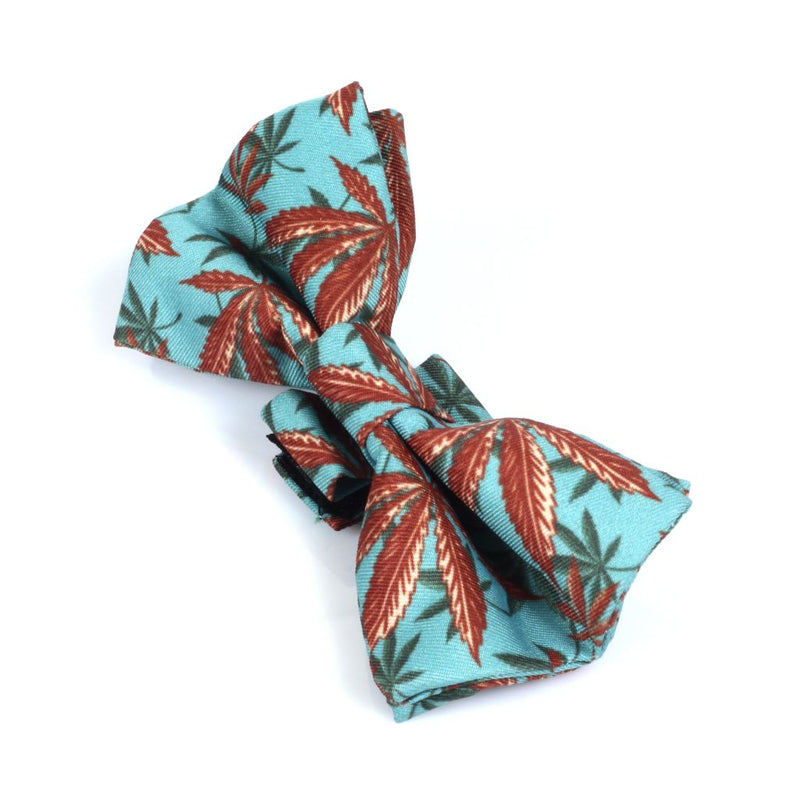Heady Pet Dog Bow Tie - Caribbean Leaf