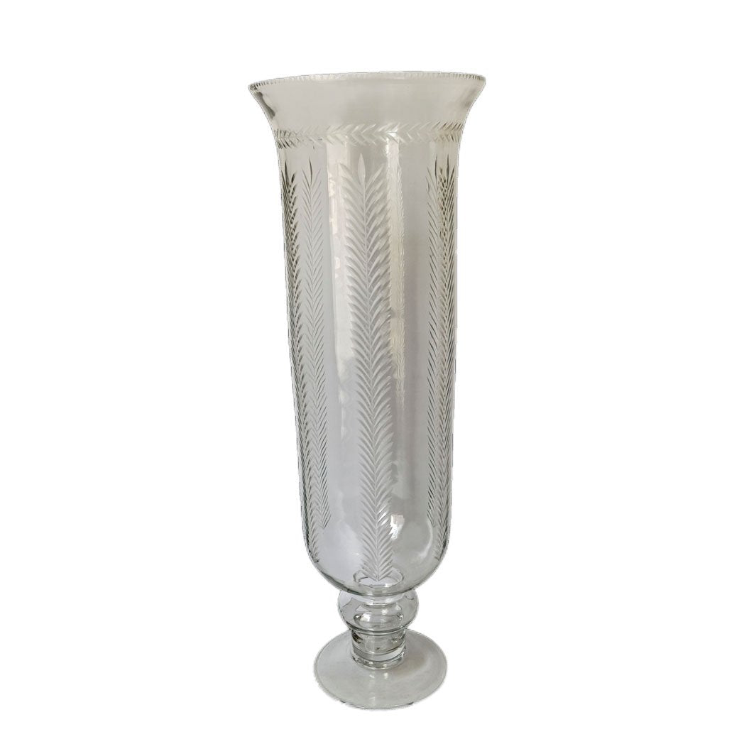 Cut Glass Laurel Planter Vase