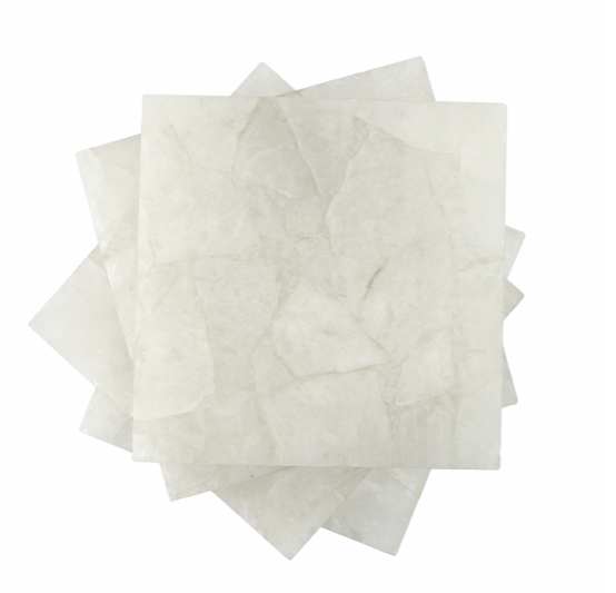 White Quartz Coaster Set of 4