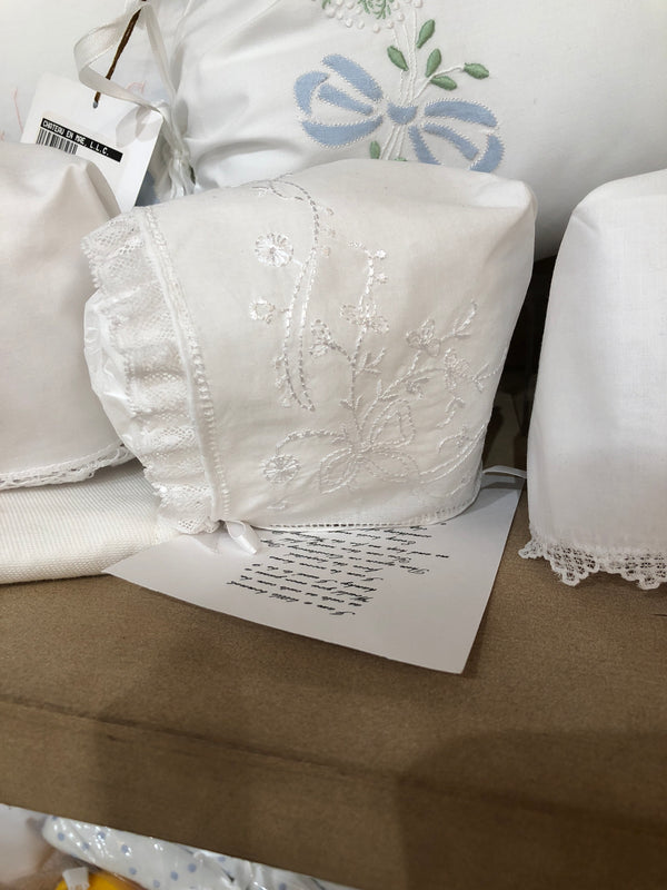 Christening Bonnet - Cluny Lace