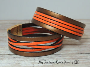THE BONNI - Metallic Bronze/Orange