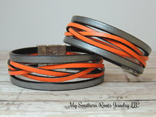 THE BONNI - Metallic Silver/Orange