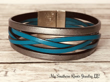 THE BONNI - Metallic Silver/Turquoise