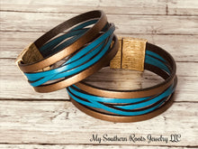 THE BONNI - Metallic Bronze/Turquoise