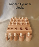 Toys Wooden Cylinder Blocks Montessori learning Development Practice and Senses
