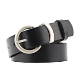 Women's Leather look Belt Needle Buckle