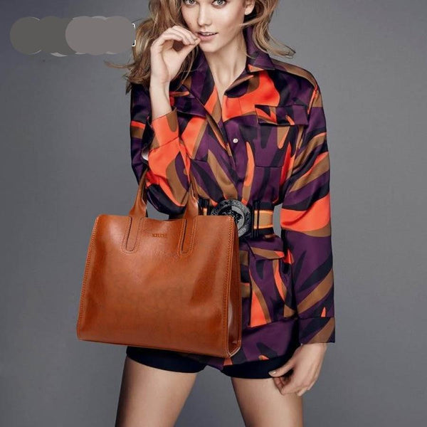 Women's bags Leather style Trunk shape Handbags with Shoulder strap