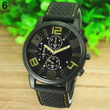Wrist Watch 5ZF6 Men's Casual Sports Stainless Steel Silicone Band Quartz Analog. Amazing value only £2