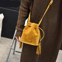 handbags high quality Women Bag Messenger Bags New Handbag Tassel Bucket style Shoulder Handbags Cross-body