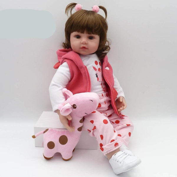 Reborn Doll 47cm soft silicone Baby girl, infant novelty