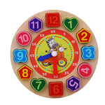 Wooden Toy clock Colourful 12 Numbers with Zebra