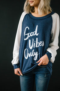 Good Vibes Top in Blue
