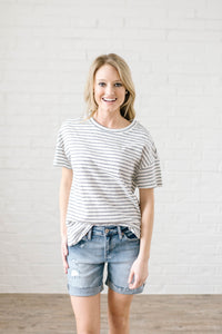 Saturday Striped Tee