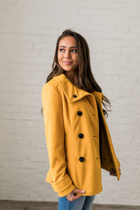 double coupon cheap price top-rated fashion Sunshine Yellow Peacoat - ALL SALES FINAL – Original 214 By ...