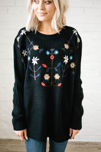 The Alpine Knit Sweater in Black