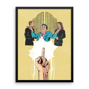 Fuck The Gatekeepers, Pick Yourself Framed Print