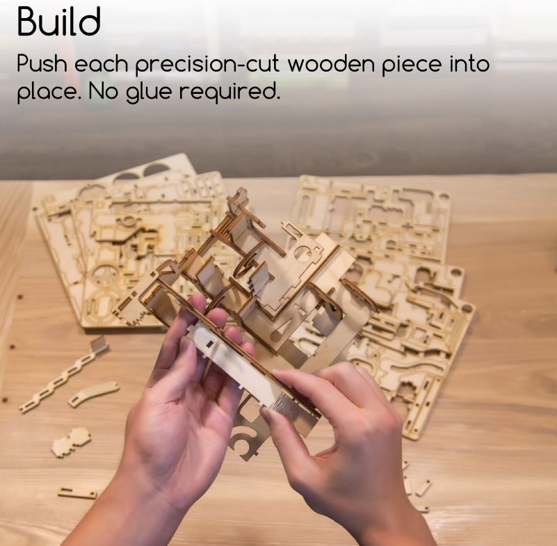 3D Wooden Marble Maze Intrism Pro Puzzle Model Kit Fuego Cloud