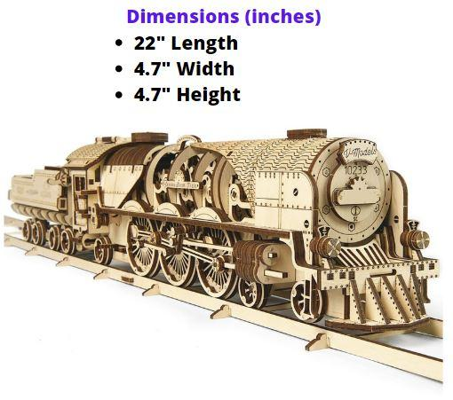 Steam Express Locomotive (Tender + 8 Feet of Track Included)