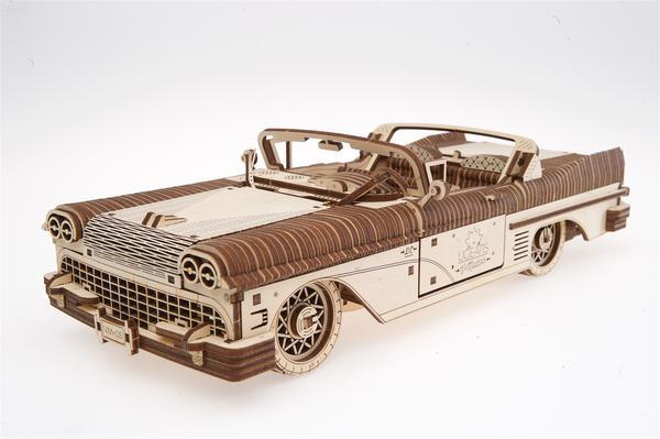 Wooden Car Model Building Kit Fuego Cloud Classic Cabriolet