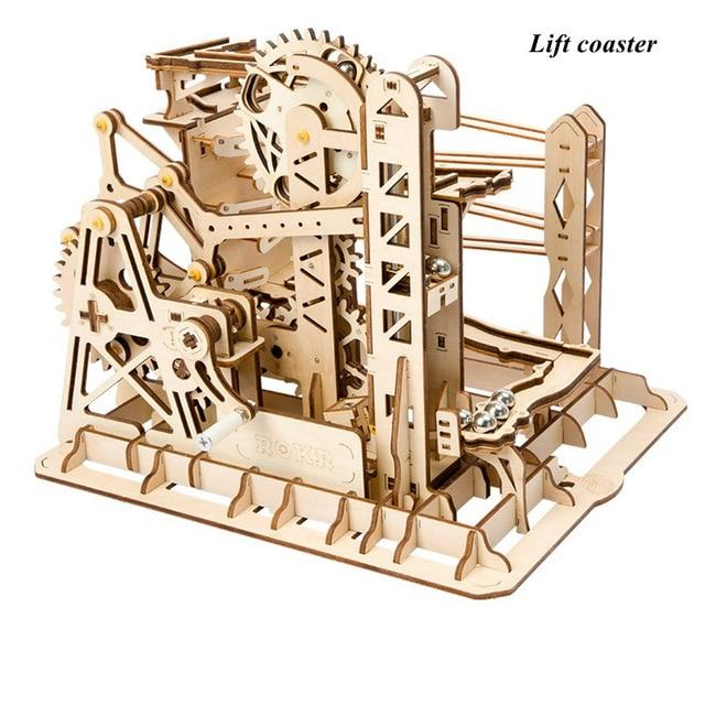 Wooden Mechanical Marble Run Model Kit Fuego CloudWooden Marble Racer Run Model Kit Fuego Cloud-Lift Coaster