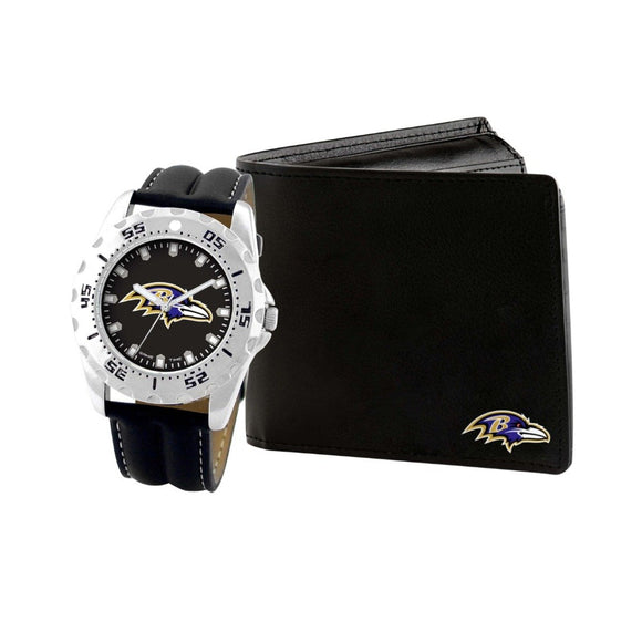 Baltimore Ravens Watch & Wallet Set NFL-WAW-BAL