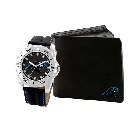 Carolina Panthers Watch & Wallet Set NFL-WAW-CAR