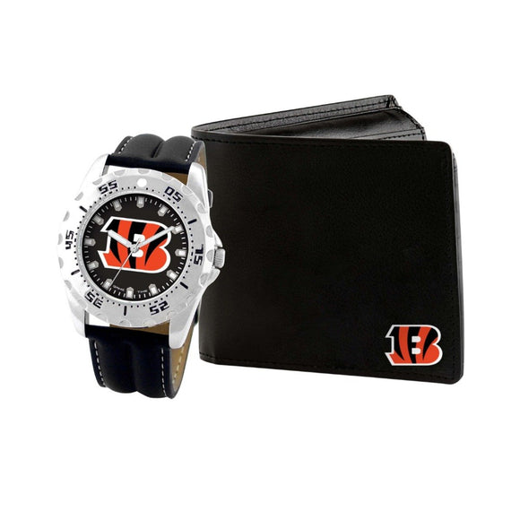 Cincinnati Bengals Watch & Wallet Set NFL-WAW-CIN