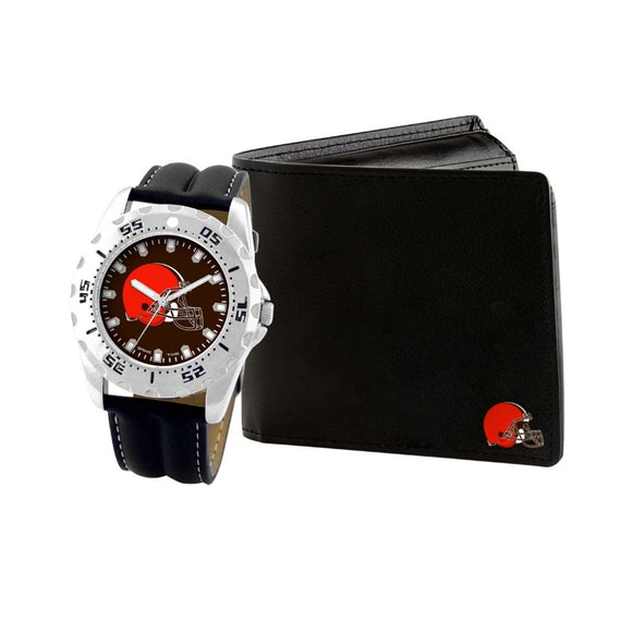 Cleveland Browns Watch & Wallet Set NFL-WAW-CLE