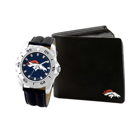 Denver Broncos Watch & Wallet Set NFL-WAW-DEN