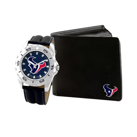 Houston Texans Watch & Wallet Set NFL-WAW-HOU