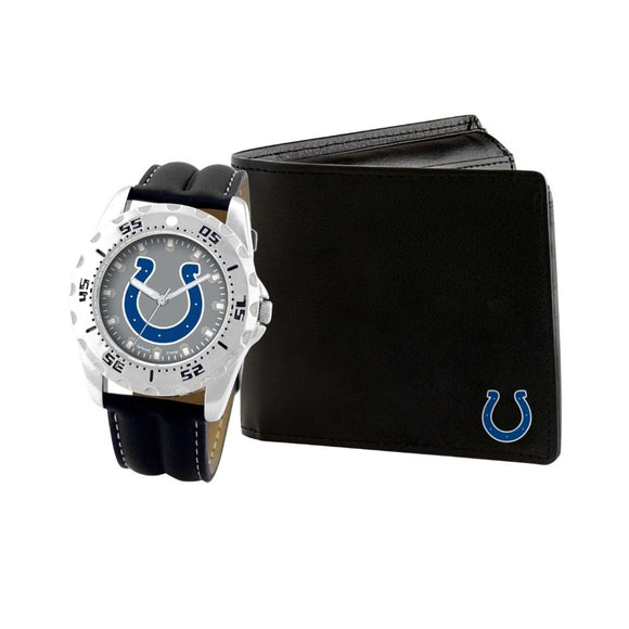 Indianapolis Colts Watch & Wallet Set NFL-WAW-IND