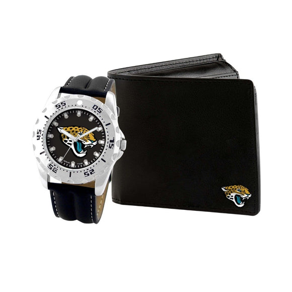 Jacksonville Jaguars Watch & Wallet Set NFL-WAW-JAC