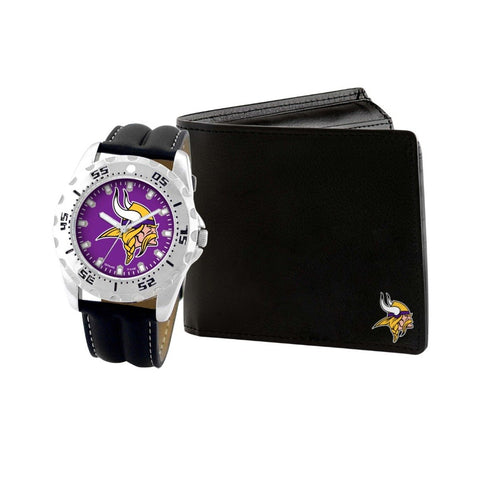 Minnesota Vikings Watch & Wallet Set NFL-WAW-MIN