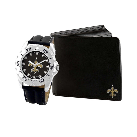 New Orleans Saints Watch & Wallet Set NFL-WAW-NO