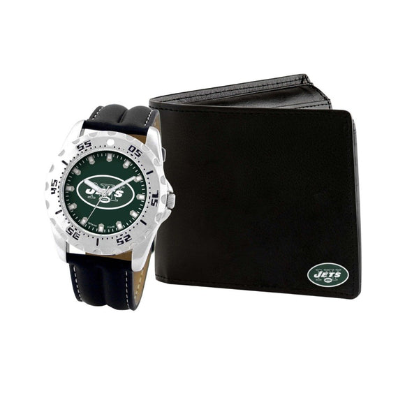 New York Jets Watch & Wallet Set NFL-WAW-NYJ