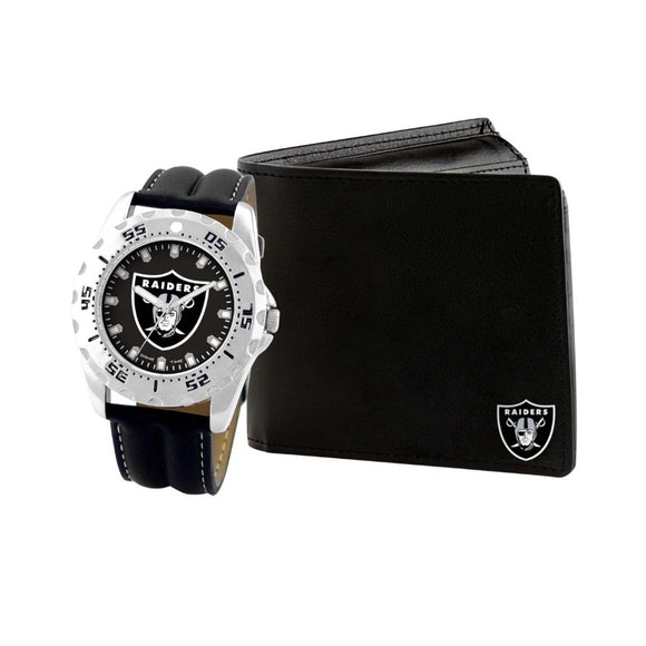 Oakland Raiders Watch & Wallet Set NFL-WAW-OAK