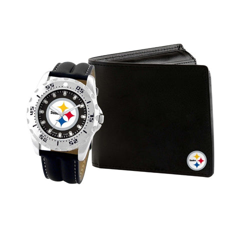Pittsburgh Steelers Watch & Wallet Set NFL-WAW-PIT