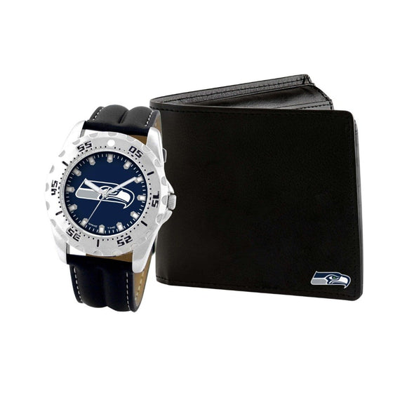 Seattle Seahawks Watch & Wallet Set NFL-WAW-SEA