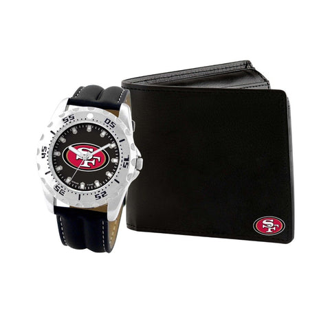 San Francisco 49ers Watch & Wallet Set NFL-WAW-SF