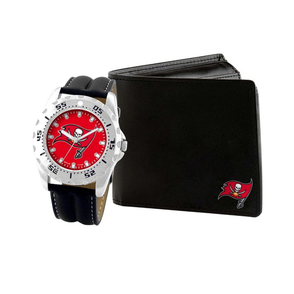 Tampa Bay Buccaneers Watch & Wallet Set NFL-WAW-TB