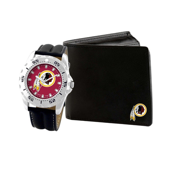 Washington Redskins Watch & Wallet Set NFL-WAW-WAS